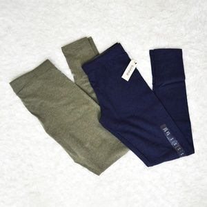 2 Pairs of Leggings (blue and green)